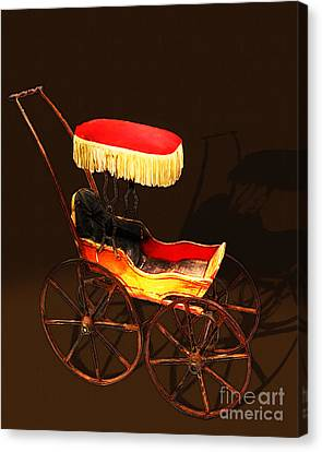 Vintage Victorian Stroller 20150921 Canvas Print by Wingsdomain Art and Photography