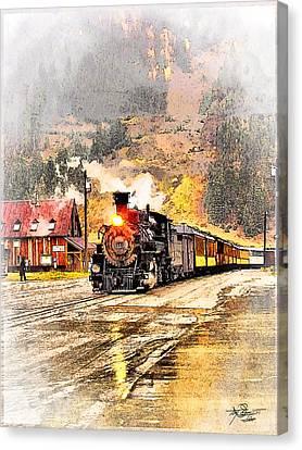 Tom Schmidt Canvas Print - Vintage Western Train by Tom Schmidt