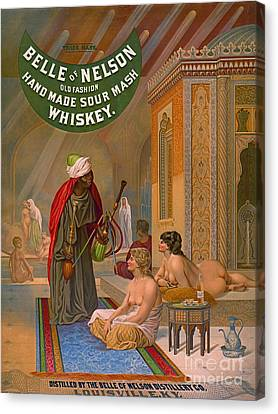 Vintage Whiskey Ad 1883 Canvas Print by Padre Art