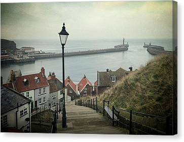 Vintage Whitby Canvas Print by Sarah Couzens