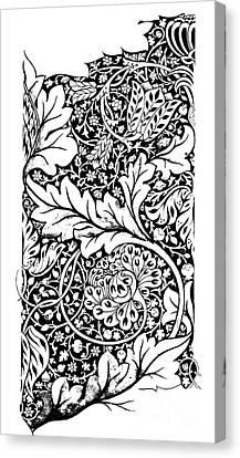 Vintage William Morris Textile Pattern Design Canvas Print