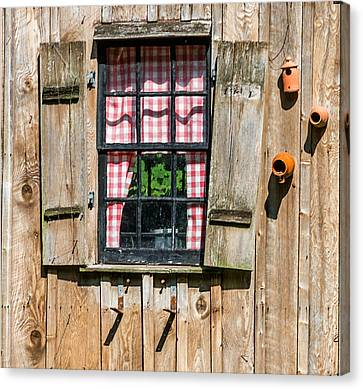Vintage Window Cuttalossa Farm Pa Canvas Print by Terry DeLuco