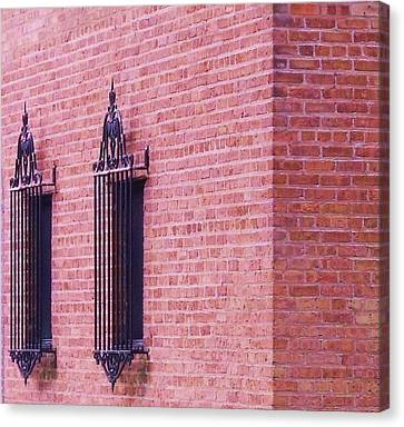 Vintage Window Grates 3 Canvas Print