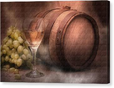 Wine Glasses Canvas Print - Vintage Wine by Tom Mc Nemar