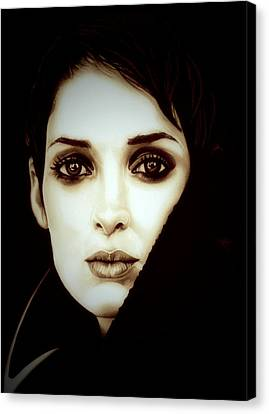 Vintage Winona Ryder Canvas Print by Fred Larucci