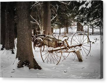 Winter In The Country Canvas Print - Vintage Winter by Bill Wakeley