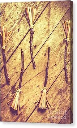 Magic Canvas Print - Vintage Witches Broomsticks by Jorgo Photography - Wall Art Gallery