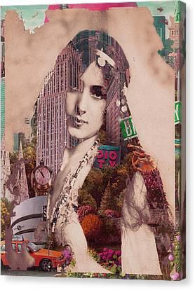 Vintage Woman Built By New York City 2 Canvas Print