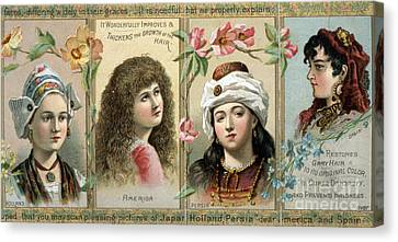 Vintage Women's Hair Tonic Product Label Canvas Print by Edward Fielding
