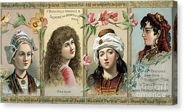 Vintage Women's Hair Tonic Product Label Canvas Print