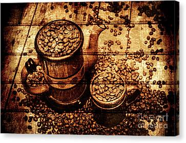 Vintage Wooden Coffee Shop Sign Canvas Print by Jorgo Photography - Wall Art Gallery