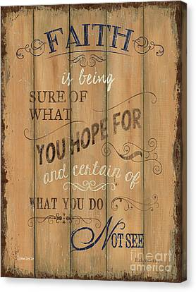 Vintage Wtlb Faith Canvas Print