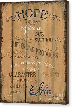 Vintage Wtlb Hope Canvas Print