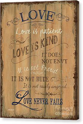 Vintage Wtlb Love Canvas Print