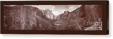 Canvas Print featuring the photograph Vintage Yosemite Valley 1899 by John Stephens