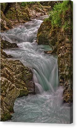 Canvas Print featuring the photograph Vintgar Gorge Rapids #2 - Slovenia by Stuart Litoff
