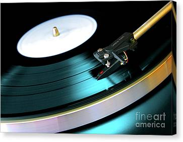 Night Canvas Print - Vinyl Record by Carlos Caetano