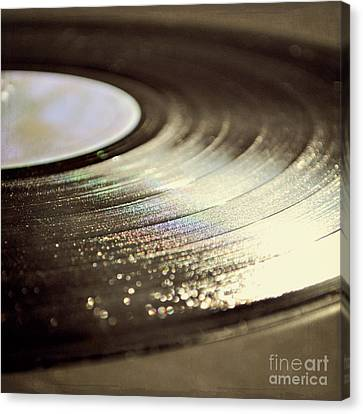 Canvas Print featuring the photograph Vinyl Record by Lyn Randle