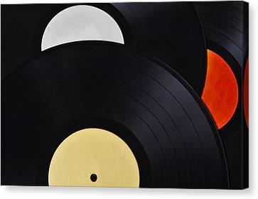 Vinyl Records Collection Canvas Print
