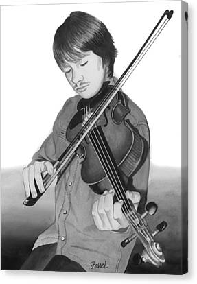 Canvas Print featuring the painting Viola Master by Ferrel Cordle