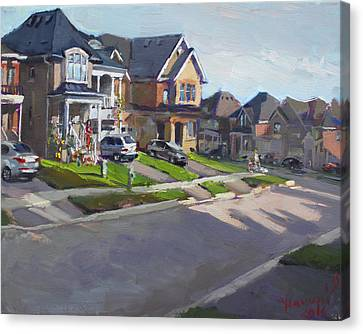 Viola's House In Georgetown On Canvas Print by Ylli Haruni