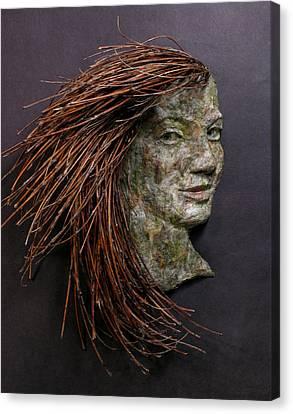 Violet A Relief Sculpture By Adam Long Canvas Print
