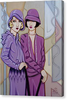 Violet And Rose Canvas Print
