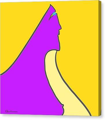 Violet Blonde Canvas Print