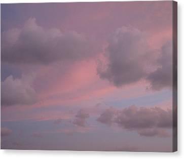 Violet Cloud Formation 1 Canvas Print by Brenda Berdnik
