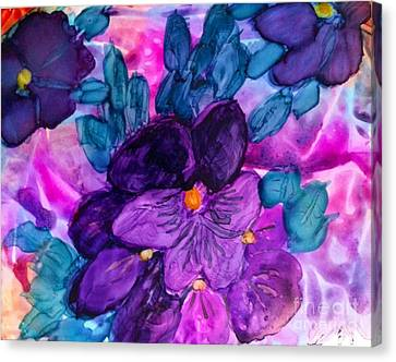 African Violets Canvas Print - Violet Fantasy by Eunice Warfel