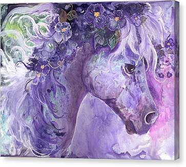 Violet Fantasy Canvas Print by Sherry Shipley