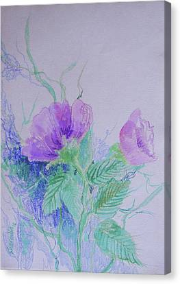 Violet Flowers Canvas Print by Sharmila L