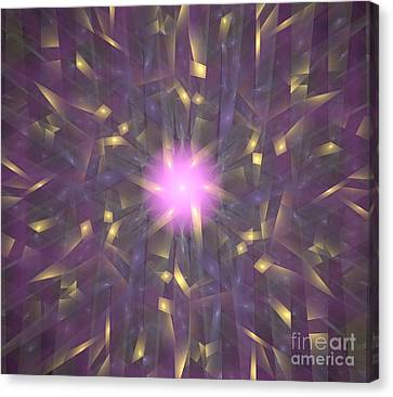 Violet Gold Bamboo Canvas Print by Kim Sy Ok