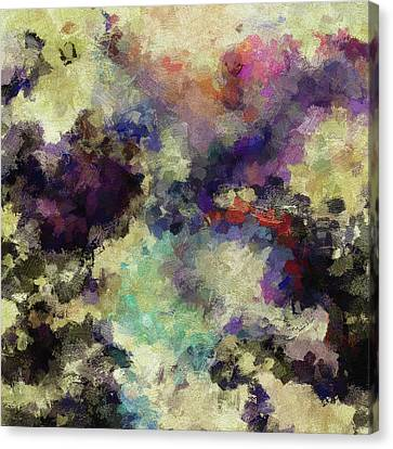 Canvas Print featuring the painting Violet Landscape Painting by Ayse Deniz