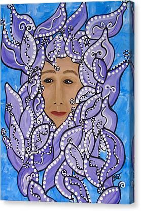 Violet Maggie Canvas Print by Barbara St Jean