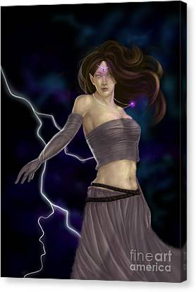 Canvas Print featuring the digital art Violet Magic by Amyla Silverflame