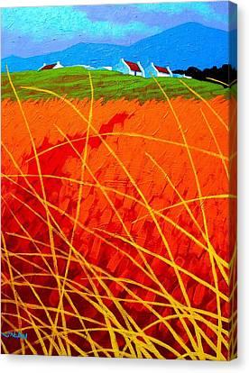 Violet Sky - Wicklow - Ireland Canvas Print by John  Nolan