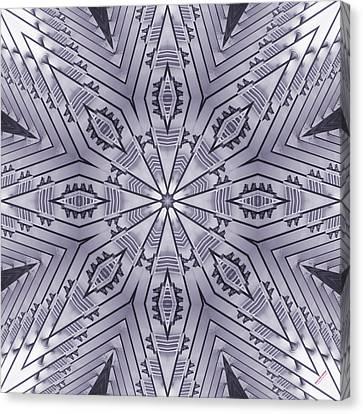 Violet Steel 2367k8 Canvas Print by Brian Gryphon