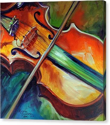 Violin Abstract 1818 Canvas Print by Marcia Baldwin