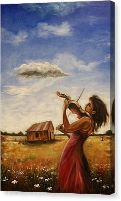 Canvas Print featuring the painting Violin by Emery Franklin