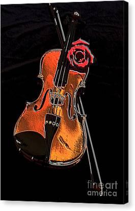 Violin Extreme Canvas Print by Marsha Heiken