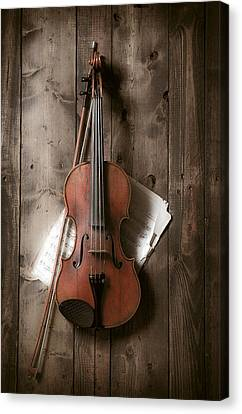 Still Lives Canvas Print - Violin by Garry Gay