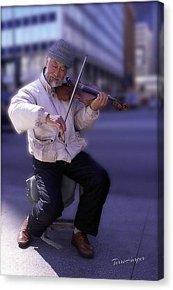 Violin Guy Canvas Print by Terri Harper