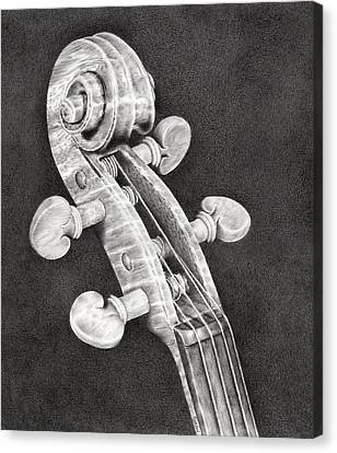Violin Canvas Print - Violin Scroll by Remrov