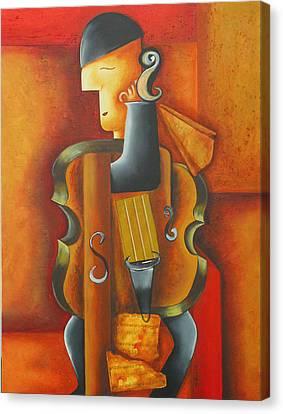 Violin Time Canvas Print by Marta Giraldo