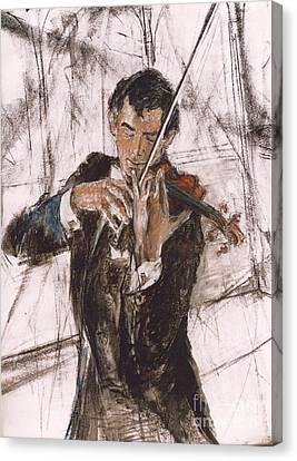 Violinist Canvas Print by Debora Cardaci
