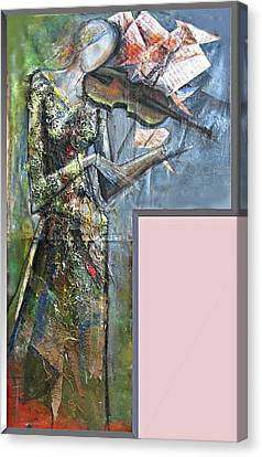 Violinist Woman Canvas Print by Giorgi Kobiashvili