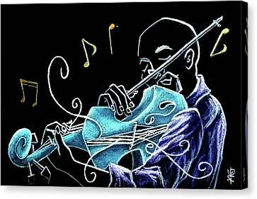 San Marco Canvas Print - Violinista Gran Caffe Chioggia - Musica Piazza San Marco by Arte Venezia