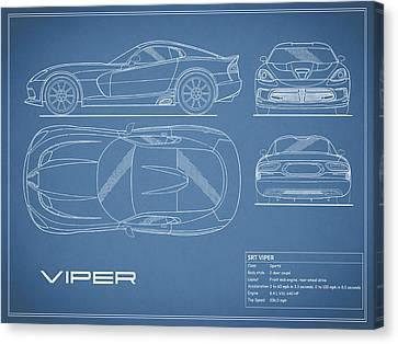 Viper Canvas Print - Viper Blueprint by Mark Rogan