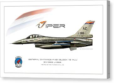 Viper Single Rnlaf Azang Profile Canvas Print by Peter Van Stigt